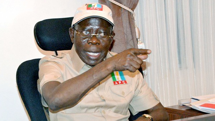 RED EYE! Oshiomhole shoots down claims of APC not winning 2019 elections with him as Party chairman