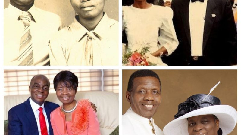 REVEALED!! The untold story of how Bishop Oyedepo & Pastor Adeboye met and wooed their wives (Pictures)