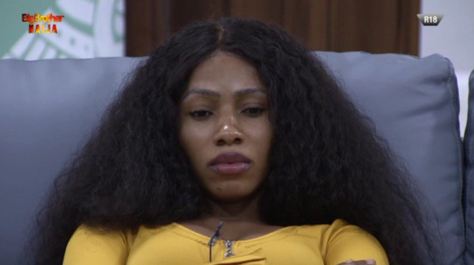 BBNaija: What Mercy Did After Her Best Friend, Diane Was Evicted From The House (Video)