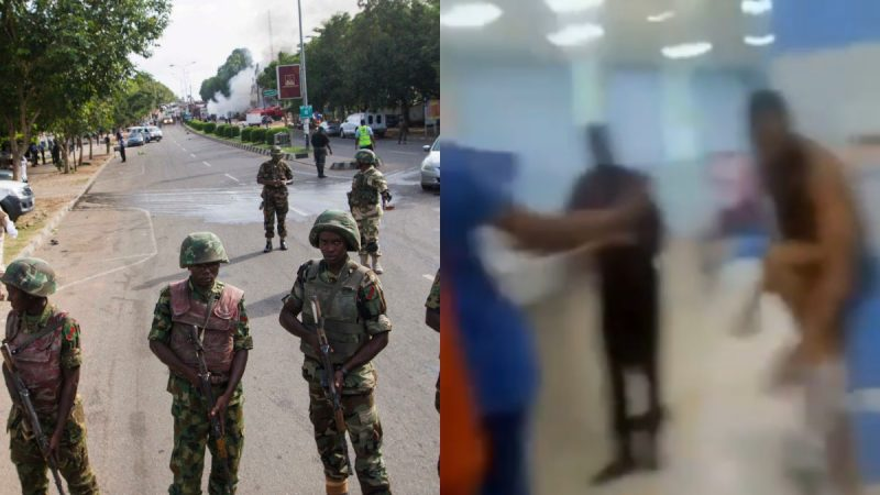 Panic As Nigerian Army Takes Over, Policeman Dead, Banks Closed + Man Strips In Bank To Protest
