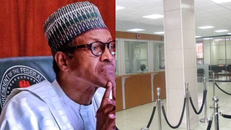 Govt Shuts Down Banks Over Protest As Buhari Meets Security Chiefs Over Crisis